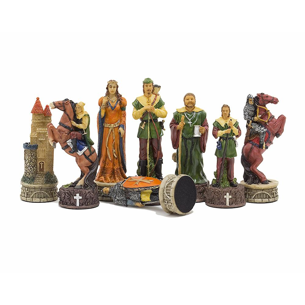 The Robin Hood Hand painted themed chess pieces by Italfama