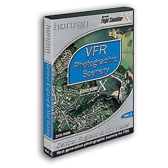 VFR Fotografiske Scenery 2 Central England Mid Wales Add-On til FSX (PC DVD) - Ny