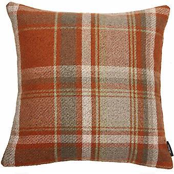 Mcalister textiles patrimoine tartan vérifier la terre cuite et coussin gris