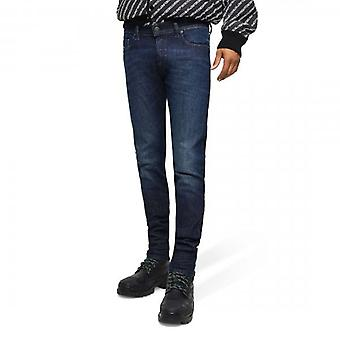 Diesel D-Luster Slim Stretch Denim Blue Washed Jeans 0095K