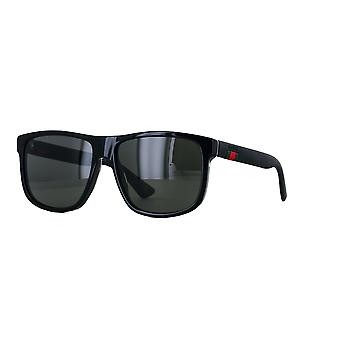 Gucci GG0010S 001 Black/Grey Sunglasses