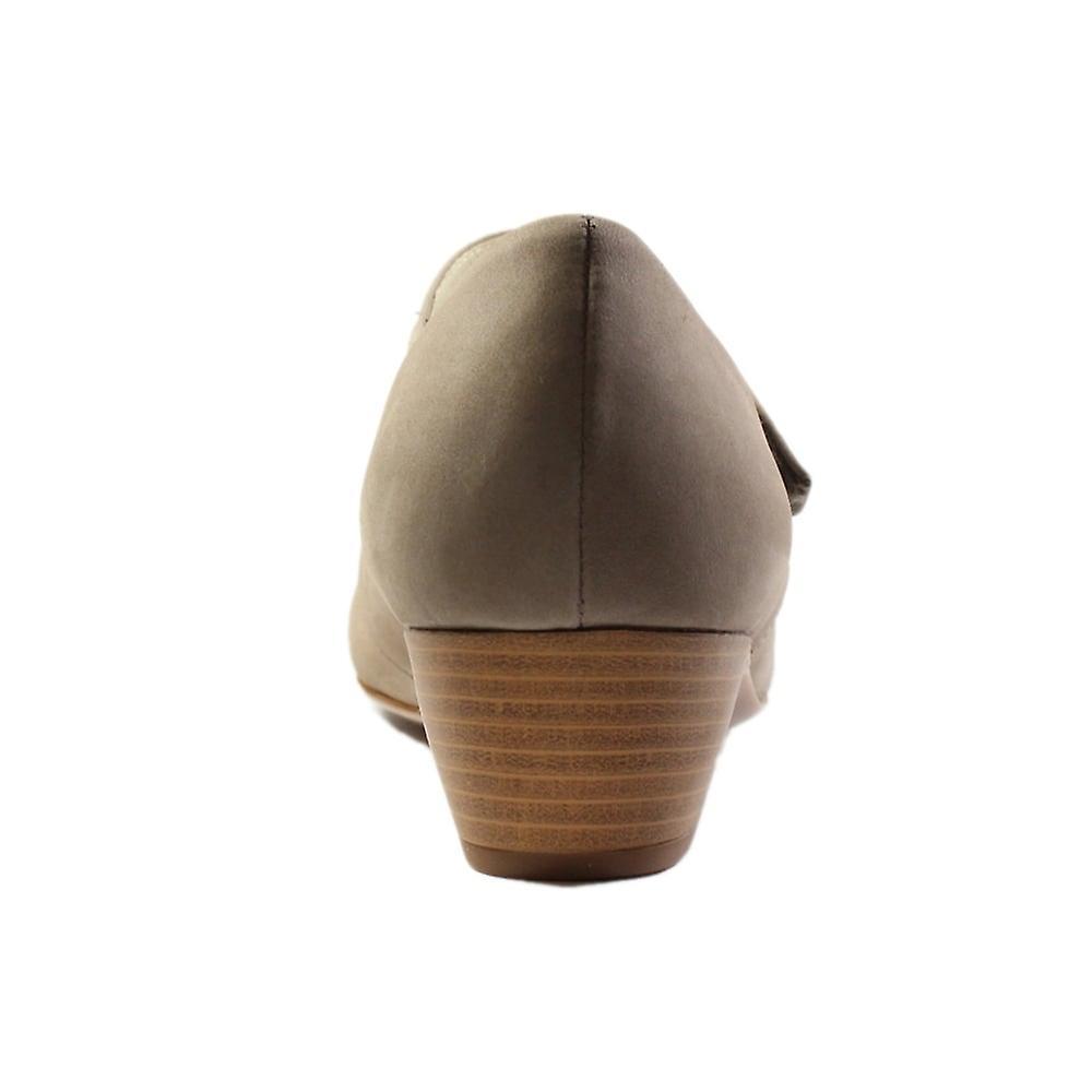 Waldläufer Hilaria 358307 162 230 Taupe Nubuck Leather Womens Heeled Shoes