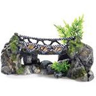 Klassiker för husdjur Rocky Rope Bridge 265mm (fisk, dekoration, prydnadsföremål)