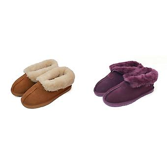 Eastern Counties Leather Womens/Ladies Sheepskin Lined Split Seam Slipper Boots