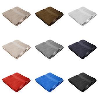 Jassz Premium Heavyweight Plain Bath Towel 70cm x 140cm (550 GSM) (Pack of 2)