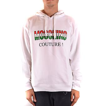 Moschino Ezbc015145 Men's White Cotton Sweatshirt