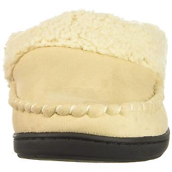 Dearfoams Womens Mfs Suede Closed Toe Slip On Slippers