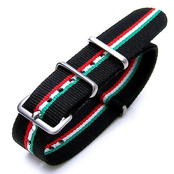 Strapcode n.a.t.o watch strap 20mm or 22mm nato italian ver. 2 special edition nylon watch strap brush (italy, hungary)