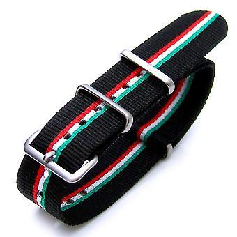 Strapcode n.a.t.o bracelet de montre 20mm ou 22mm nato italien ver. 2 édition spéciale robe de montre en nylon strap brosse (italie, hongrie)