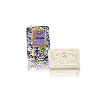 Saponificio Artigianale Fiorentino Handmade Soap - Blue Rain - Floral Fragrance Lovingly Wrapped in Wrapping Paper 150g