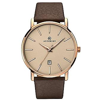 Accurist Quartz Analog Mens watch with leather 7166.01