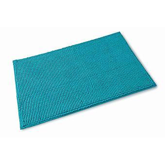 Chloe Turquoise Blue Microfibre Single Bath Mat 50cm x 80cm