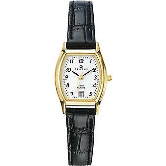 Certus 646502-wristwatch, leather, color: black