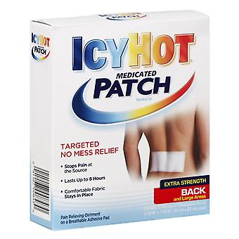 Icy hot extra strength medicated back patches, 5 ea