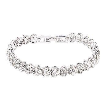 Classic Bracelet with Rhinestones - Silver