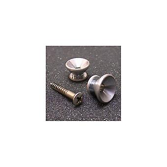 Gotoh Nickel Strap Buttons With Screws Aged Finish (set Of 2)