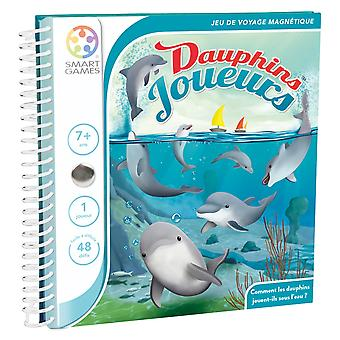 SmartGames Flippin' Dolphins Magnetic Puzzle Travel Game 48 Multi-Level