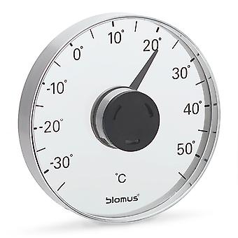 Blomus window thermometer GRADO, stainless steel matt, combined with plastic/acrylic
