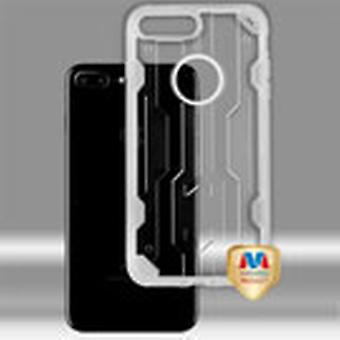 ASMYNA Chali Hybrid Case pour iPhone 8/7 Plus - Transparent Clear/Transparent Clear