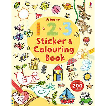 123 Sticker and Colouring Book by Greenwell & Jessica