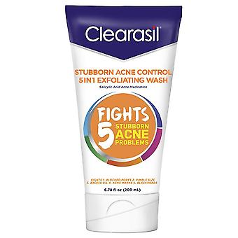 Clearasil ultra 5-n-1 exfoliating wash, acne medication, 6.78 oz