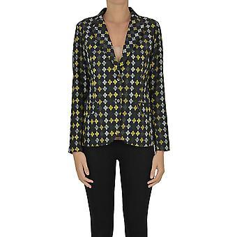 Le's Ezgl529001 Mujeres's Multicolor Cotton Blazer