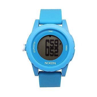 Nixon A326-917 Mens Genie Digital Light Blue Watch - Blue