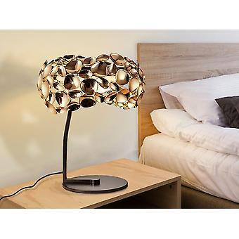 Schuller Narisa - Tischleuchte aus 3 Leuchten aus Metall mit Roségold und dunkelbrauner Farbe. Innen Acryl Diffusor. Stecker Typ G (UK). - 266544NUK