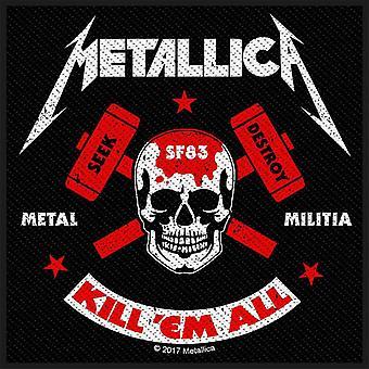 Metallica Patch drepe dem alle Metal milits bandets Logo nye offisielle vevd sy