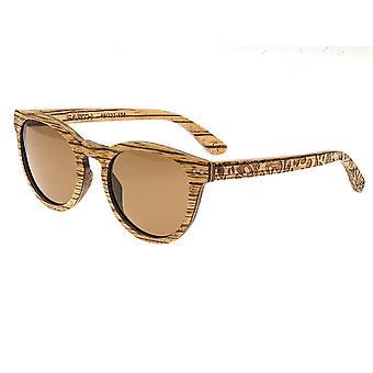 Earth Wood Copacabana Polarized Sunglasses - Zebrawood/Brown