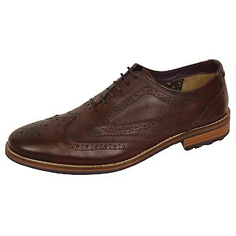 Vooraustin men's bruine leren brogue schoenen