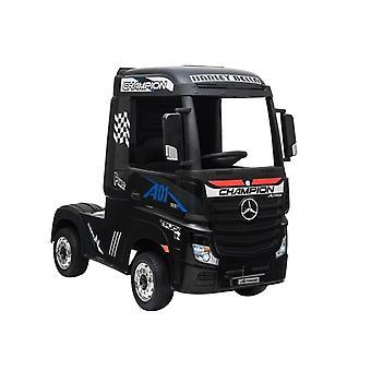 ES-Toys Kinder Elektro LKW Actros Ledersitz EVA-Reifen Stoßdämpfer Allradantrieb