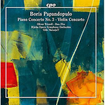 Papandopulo / Triendl / Zhu / Matvejeff - Boris Papandopulo: Concerto pour piano no 3 & Violon [CD] USA import