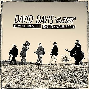 David Davis & Warrior River Boys - Didn't He Ramble: Songs of Charlie Poole [CD] USA import