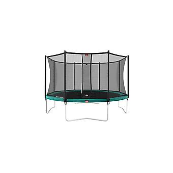 berg favorit regular 430 14ft trampoline green + safety net comfaort trampoline