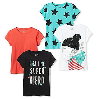 Spotted Zebra Toddler Girls' 5-Pack Short-Sleeve T-Shirts, Write your own sto...