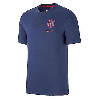 2020-2021 Atletico Madrid Travel Crest Tee (Navy)