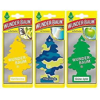 Wunder-Baum perfumado (Baunilha + Pina Colada + Apple) 3-Pack