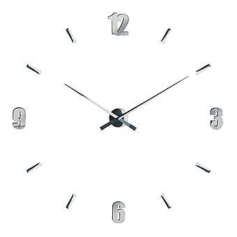 Premier Housewares Espelhado DIY Layout personalizável Relógio de Parede Contemporâneo 73cm