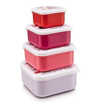 Tyrrell Katz Secret Garden 4pc Square Snack Boxes