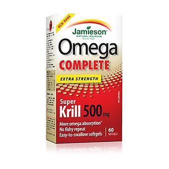 Omega 3 Komplet Krill Olie 60 kapsler