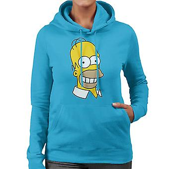 The Simpsons glimlachende Homer vrouwen Hooded Sweatshirt