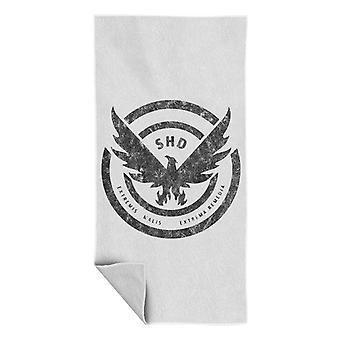 Tom Clancy Distressed Black Logo Beach Towel