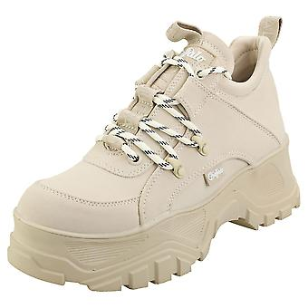 Buffalo Gldr Ct Womens Platform Trainers in Beige