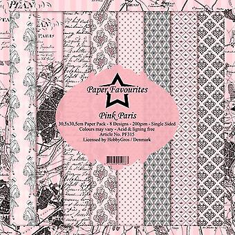 Dixi Craft Pink Paris 12x12 Inch Paper Pack