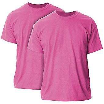Gildan Men's G2000 Ultra Baumwolle Erwachsene T-Shirt, 2-Pack, Heliconia, groß