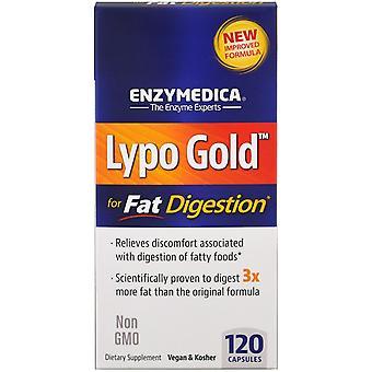 Enzymedica, Lypo Gold, Pour la digestion des graisses, 120 capsules