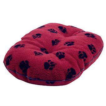 Dánská design oválná fleecová matrace - červená - 30 palců