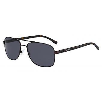 Solglasögon Män 0762/S25B/IR Män svartbrun/rökt