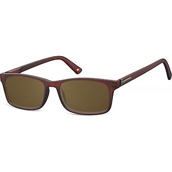 Sunglasses Unisex Rectangular Brown (MP25)